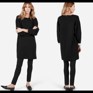 Everlane The Luxe Double Knit Wool Black Dress M